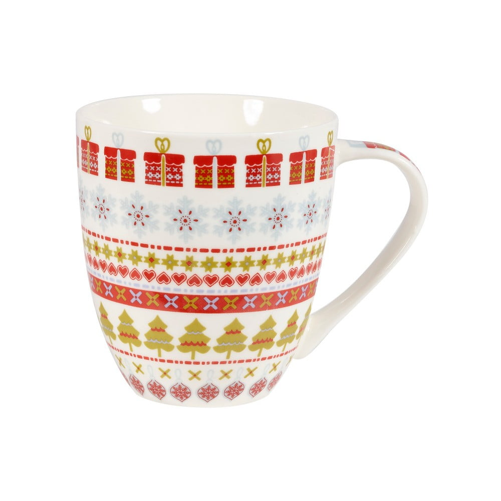 Hrnček z kostného porcelánu Churchill China Caravan Snowflake, 500 ml