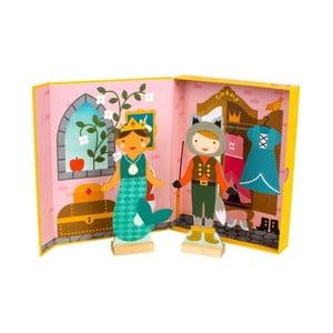Sada 2 prezliekacích bábik s magnetickým oblečením Petit collage Fairy Tales