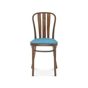 Drevená stolička s modrým polstrovaním Fameg Jorgen