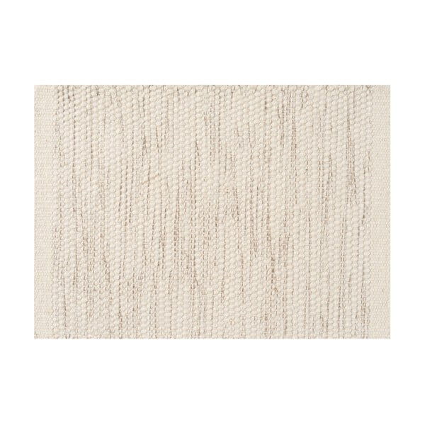 Vlnený koberec Asko, 200x300 cm, slonovinová kosť