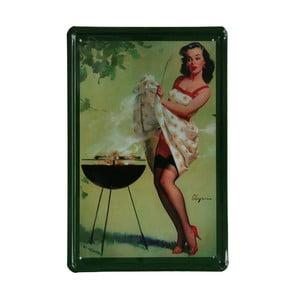 Ceduľa BBQ, 20x30 cm