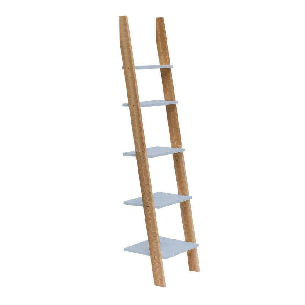 Svetlosivá rebríková polica Ragaba ASHME, šírka 45 cm