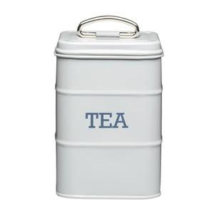 Sivá plechová dóza na čaj Kitchen Craft Nostalgia
