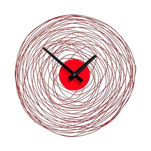 Nástenné hodiny Red Swirl, 38 cm