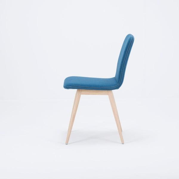Modrá stolička z dubového dreva Gazzda Ena