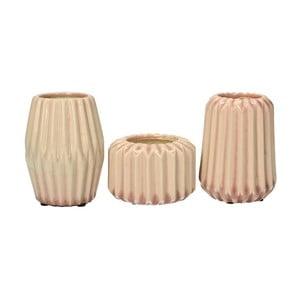 Set 3 váz Stoneware Pink