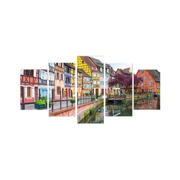 5dielny obraz Farevná ulička