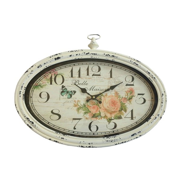 Oválne nástenné hodiny Bolzonella Rose