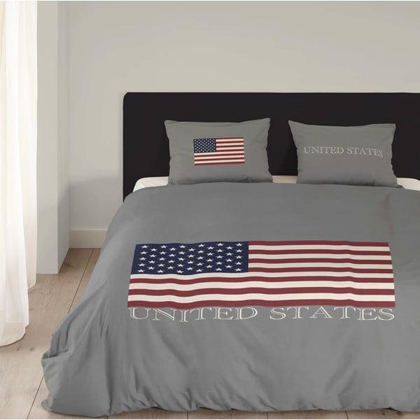 Obliečky USA, 240x200 cm, sivé