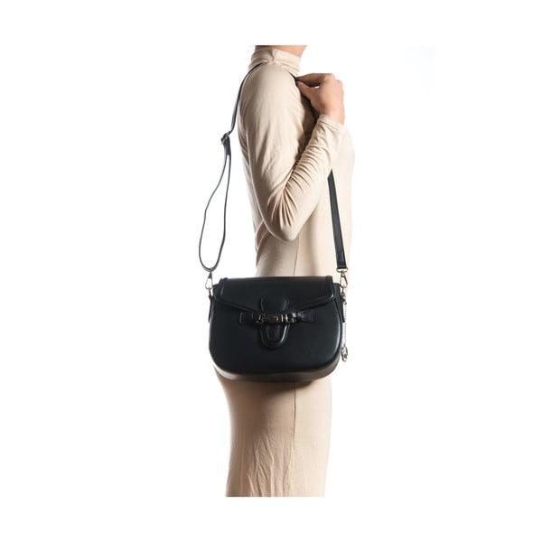 Kožená kabelka Ilaria, čierna
