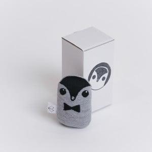 Mini plyšiak Tučniak v krabičke, čierny motýlik