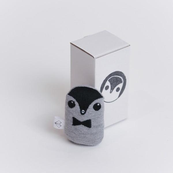 Mini plyšiak Tučniak v krabičke, červený motýlik