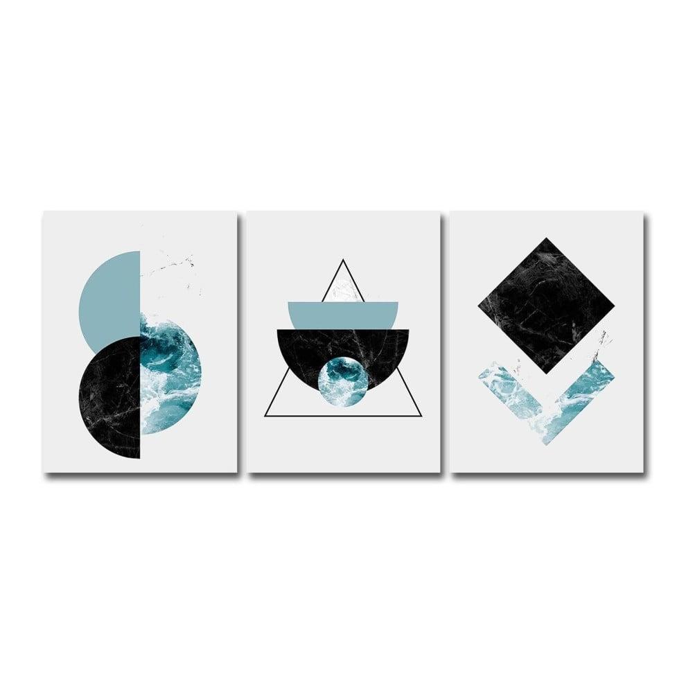 Súprava 3 obrazov Canvart Marsico