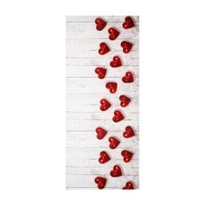 Vysokoodolný koberec Webtappeti Hearts, 58 x 80 cm