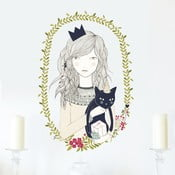 Samolepka Cat Girl, 28x31 cm