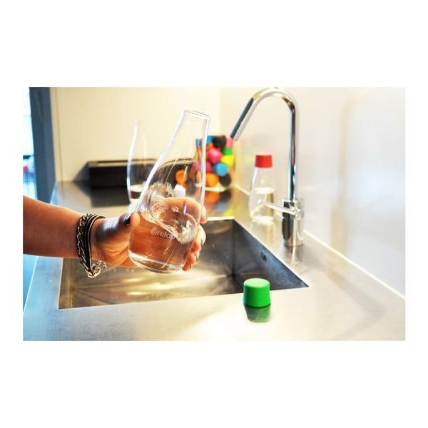 Červená sklenená fľaša ReTap s doživotnou zárukou, 500ml