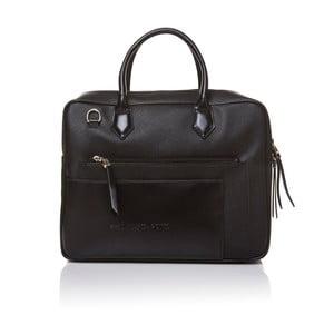 Kožená kabelka do ruky Marta Ponti Case, čierna