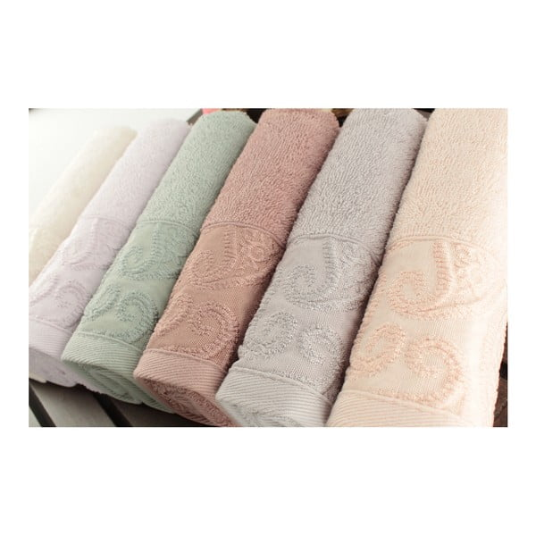 Sada 6 bavlnených uterákov Sal, 30x50cm