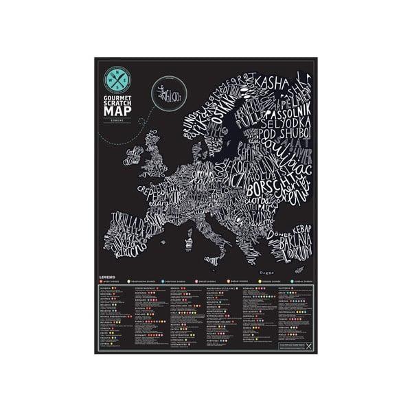 Gurmánska stieracia mapa Európy Luckies of London