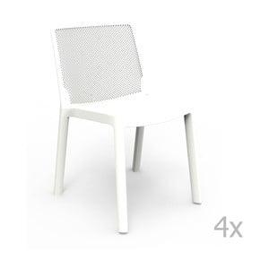 Sada 4 bielych záhradných stoličiek Resol Fresh