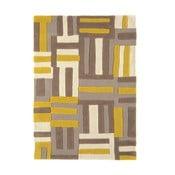 Vlnený koberec Matrix Code Yellow 120x170 cm