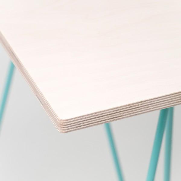 Doska stolu Flat - bielené drevo, 180x80 cm