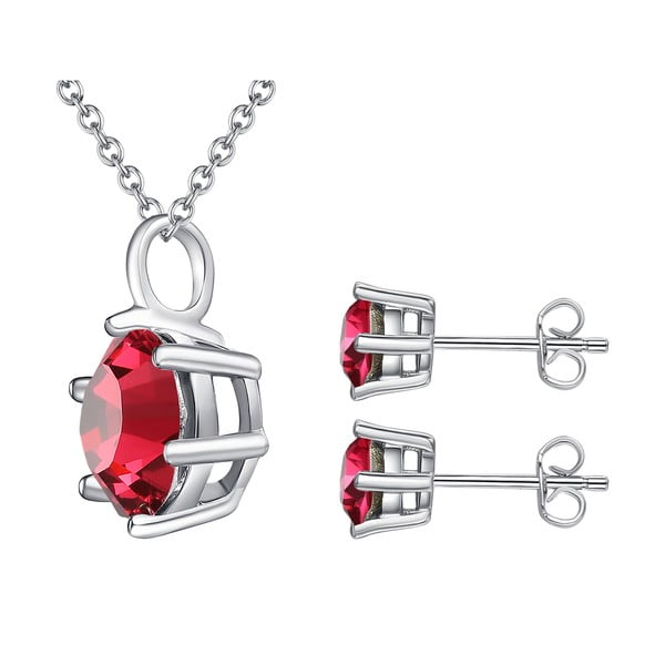 Sada náušníc a náhrdelníku Stone Red