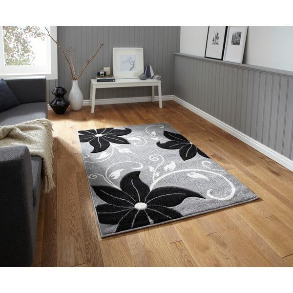 Čierno-sivý koberec Think Rugs Verona, 60×120cm