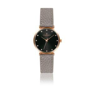 Dámske hodinky so sivým remienkom z pravej kože Frederic Graff Tess