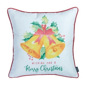 Obliečka na vankúš s vianočným motívom Apolena Honey Bells, 45×45 cm