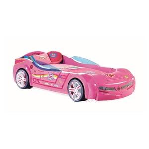 Ružová detská posteľ v tvare auta Biturbo Carbed Pink, 90 × 195 cm