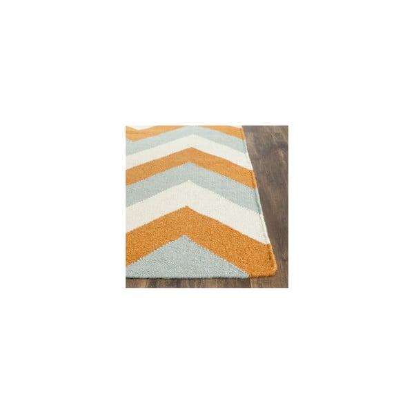 Vlnený koberec Harlow 91x152 cm, oranžový