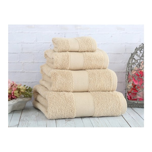 Béžový uterák Irya Home Coresoft, 50x90 cm