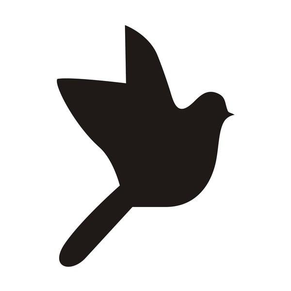 Dekoratívna samolepka Bird, 9x6,6 cm