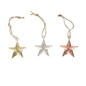 Sada 3 ks dekorácií Sass & Belle Stars