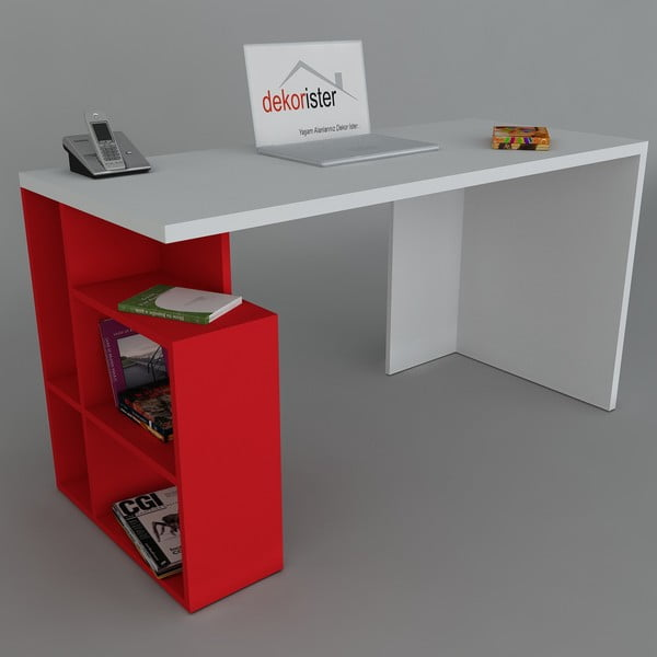 Pracovný stôl Labran Red, 60x120x73,8 cm