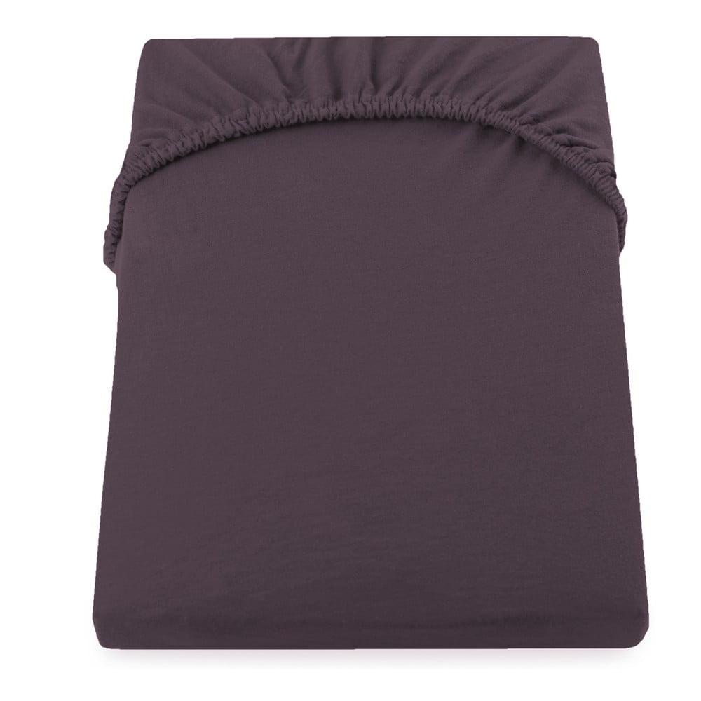 Hnedá elastická plachta DecoKing Amber Collection, 180-200 × 200 cm
