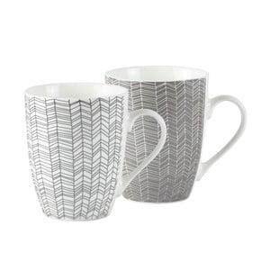 Sada 2 porcelánových hrnčekov KJ Collection, 300 ml