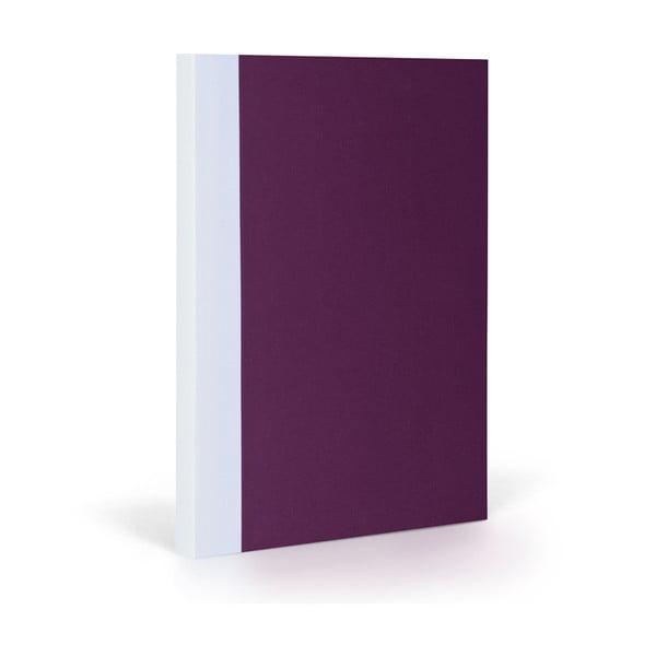 Zápisník FANTASTICPAPER XL Aubergine/White, riadkovaný