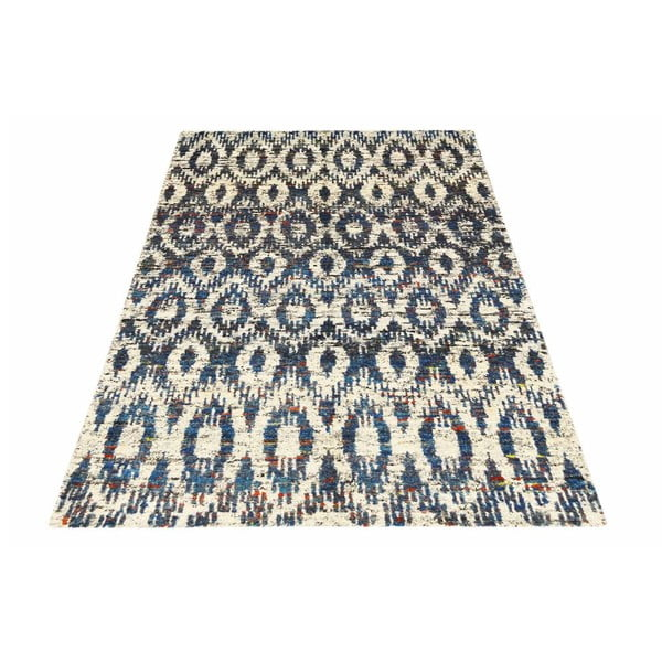 Vlnený koberec Ikat H7 Blue, 160x230 cm