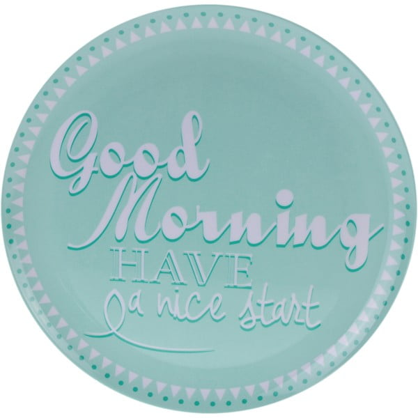 6-dielna kempingová sada riadu Postershop Good Morning