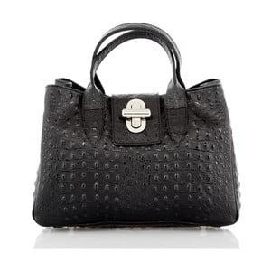 Čierna kožená kabelka Glorious Black Marika