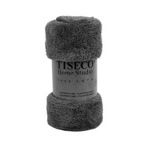 Sivý pléd Tiseco Home Studio Fluffy, 150 × 200 cm