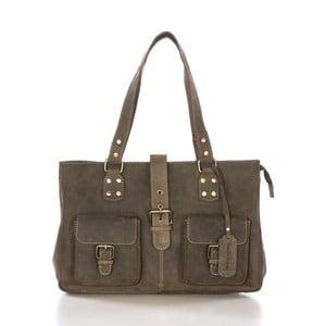 Hnedá kožená kabelka Gianni Conti