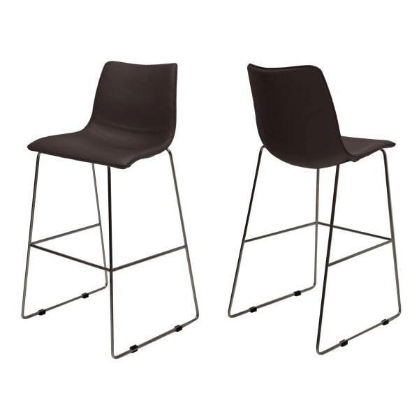 Sada 4 hnedých barových stoličiek Canett Delta