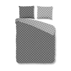 Sivé bavlnené obliečky Mundotextil Pattern, 200x200cm