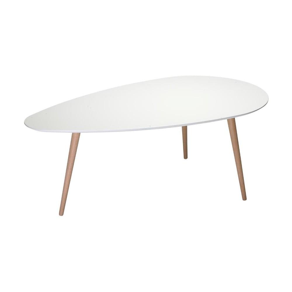 Biely konferenčný stolík s nohami z bukového dreva Furnhouse Fly, 116 x 66 cm