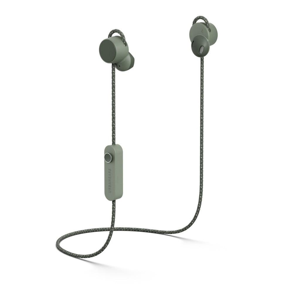 Zelené bezdrôtové Bluetooth slúchadlá do uší Urbanears-bené-jaakána Field Green