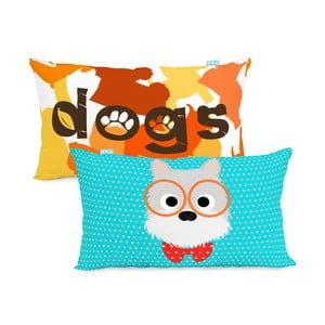 Bavlnená obliečka na vankúš Mr. Fox Dogs 50 x 30 cm