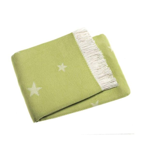 Svetlozelená deka Euromant Stars, 140x180cm